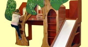 Joyful Treehouse-Themed Modern Bunk Bed for Kids by Trevor