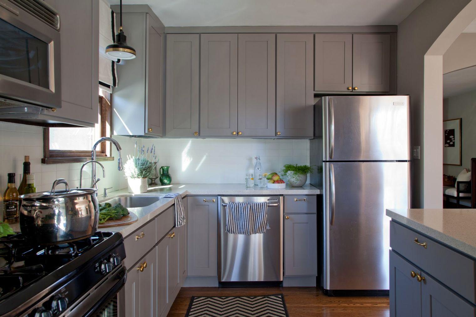 17 Superb Gray Kitchen Cabinet Designs