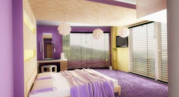 Luxury Bedroom with Purple Color for married couple