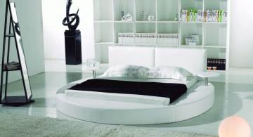 Minimalist Round Bed Design in Contemporary Bedroom