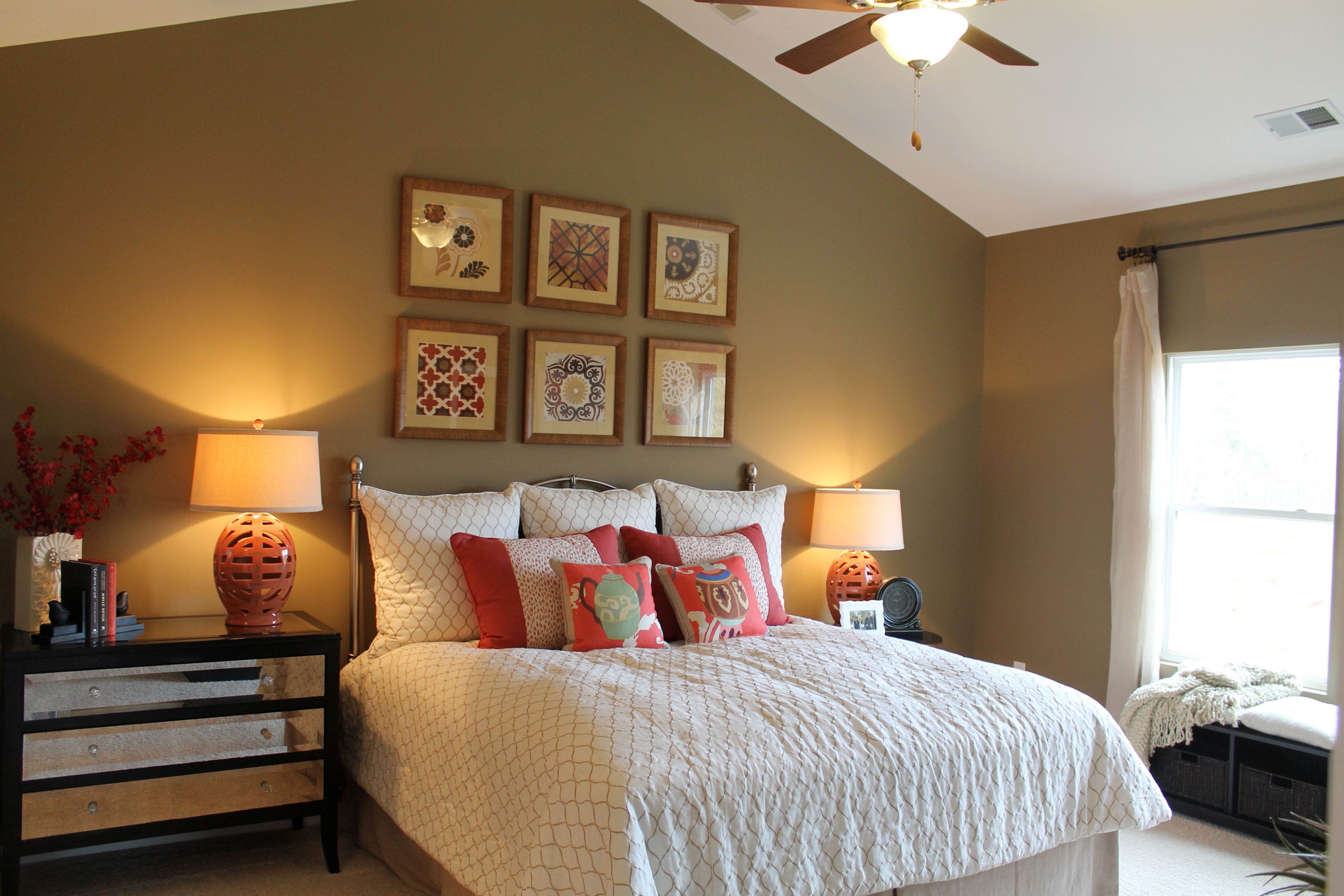 Minimalist Vaulted Ceiling Bedroom Paint Ideas For Contemporary Decoration