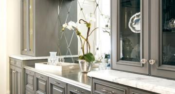Modern kitchen featuring Gray Kitchen Cabinet Designs