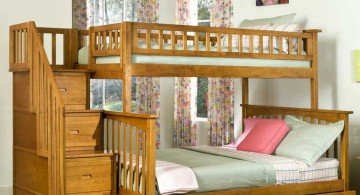 Natural Wooden Kids Loft Beds with Contemporary  Design