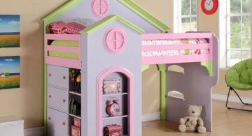 Princess-Inspired ModernKidsLoftBedsDesign for Little Girls