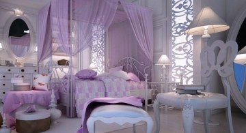Romantic Luxury Bedroom with Purple Color for couple