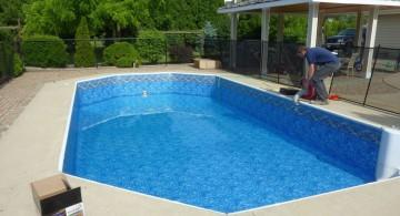Slick and modern grecian pool liner