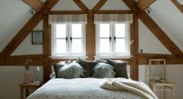 Very low vaulted ceiling bedroom smart design ideas
