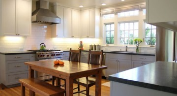 Vintage Gray Kitchen Cabinets for two-toned kitchen interior