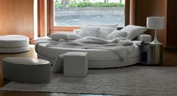 Warm Bedroom Interior Featuring Loose Round Bed Design