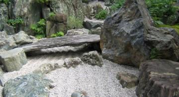 Zen style gardening with rocks ideas