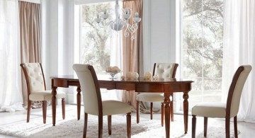 classic upholstered dining table chairs designs