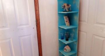 cute small corner shelving unit