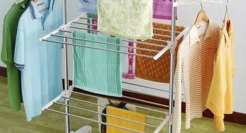 laundry room clothes hanger racks designs