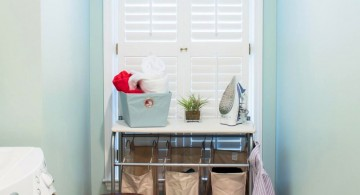 laundry room clothes hanger racks designs for limited space