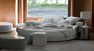 modern bedroom design with master round bed