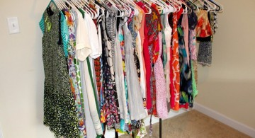 simple long rack laundry room clothes hanger racks designs
