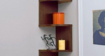 zig zag bookhself small corner shelving unit