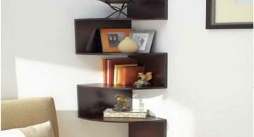 4D corner shelf designs in black