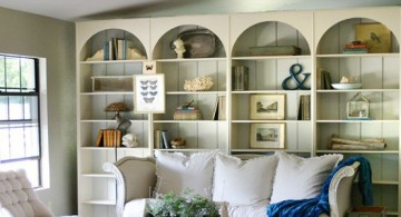 Classic wooden bookshelf decoration