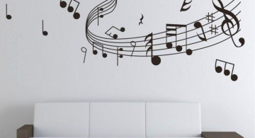 Cool wall painting designs musical note