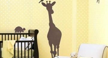 Giraffe Silhouette Cool wall painting designs