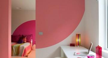 Half circle pink Cool wall painting designs
