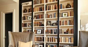 Huge bookshelf used for decorative interior divider