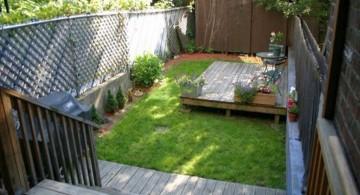 Japanese garden backyard design for urban houses