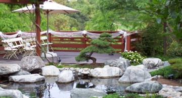 Japanese garden backyard design that perfect for wedding