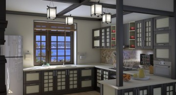 Japanese inspired hanging pendant lights ideas and inspiration for the kitchen