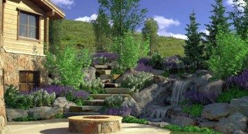 Natural look landscaping designs with big rocks