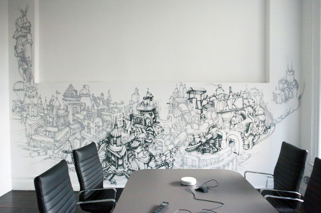 Simple continuous grafitti cool wall painting designs for - Dibujos para paredes ...