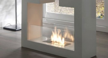 U shaped freestanding fireplaces designs