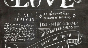 Various typeface on chalkboard writing ideas