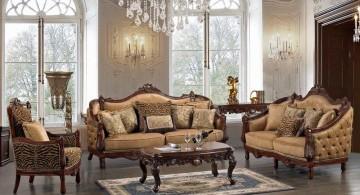 Victorian living room in beige