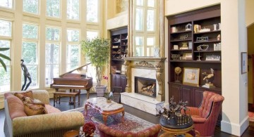 Victorian living room with a piano