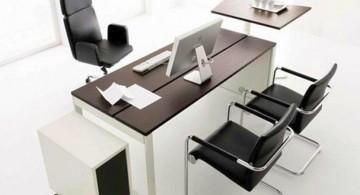 acrylic sleek office desk