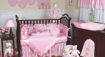 all in pink cute baby girl bedding ideas