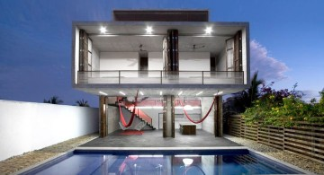 amazing modern homes with floating glass balcony