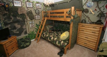 army themed funky bunk beds