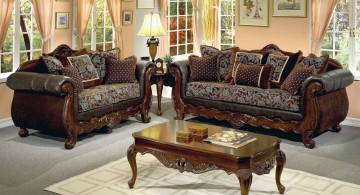 art deco living rooms with classic living room set