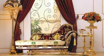 art deco living rooms with vintage divan sofa