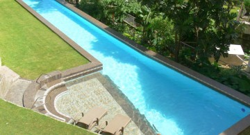 asymetric lap pool designs with small deck