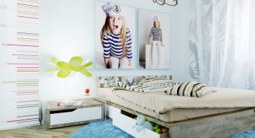 awesome rooms for girls with decals and hidden loft