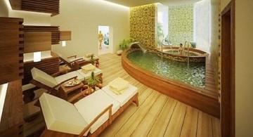 bamboo themed bathroom for spa