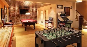 basement entertainment room