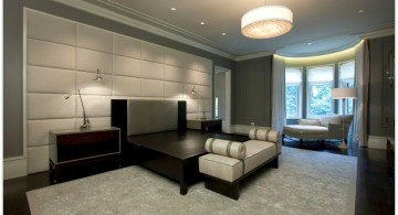 bedroom wall panel design ideas in black and grey