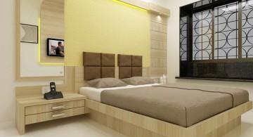 bedroom wall panel design ideas with mounted headboard