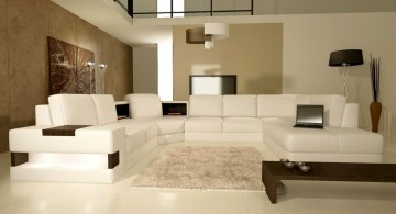 beige living room walls in modern designed house