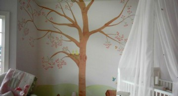 big sakura tree cool painting ideas for bedrooms